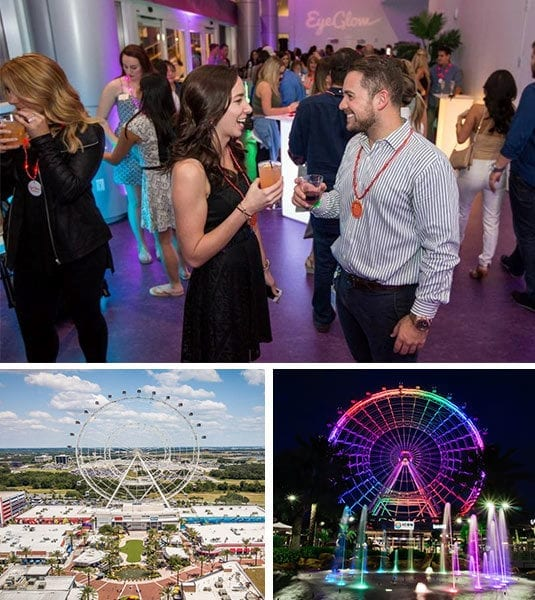 private event drinks with images of the wheel