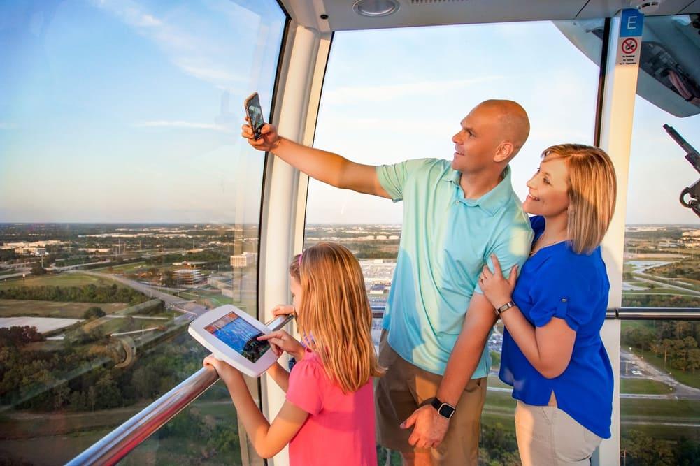 Family Selfie at The Wheel