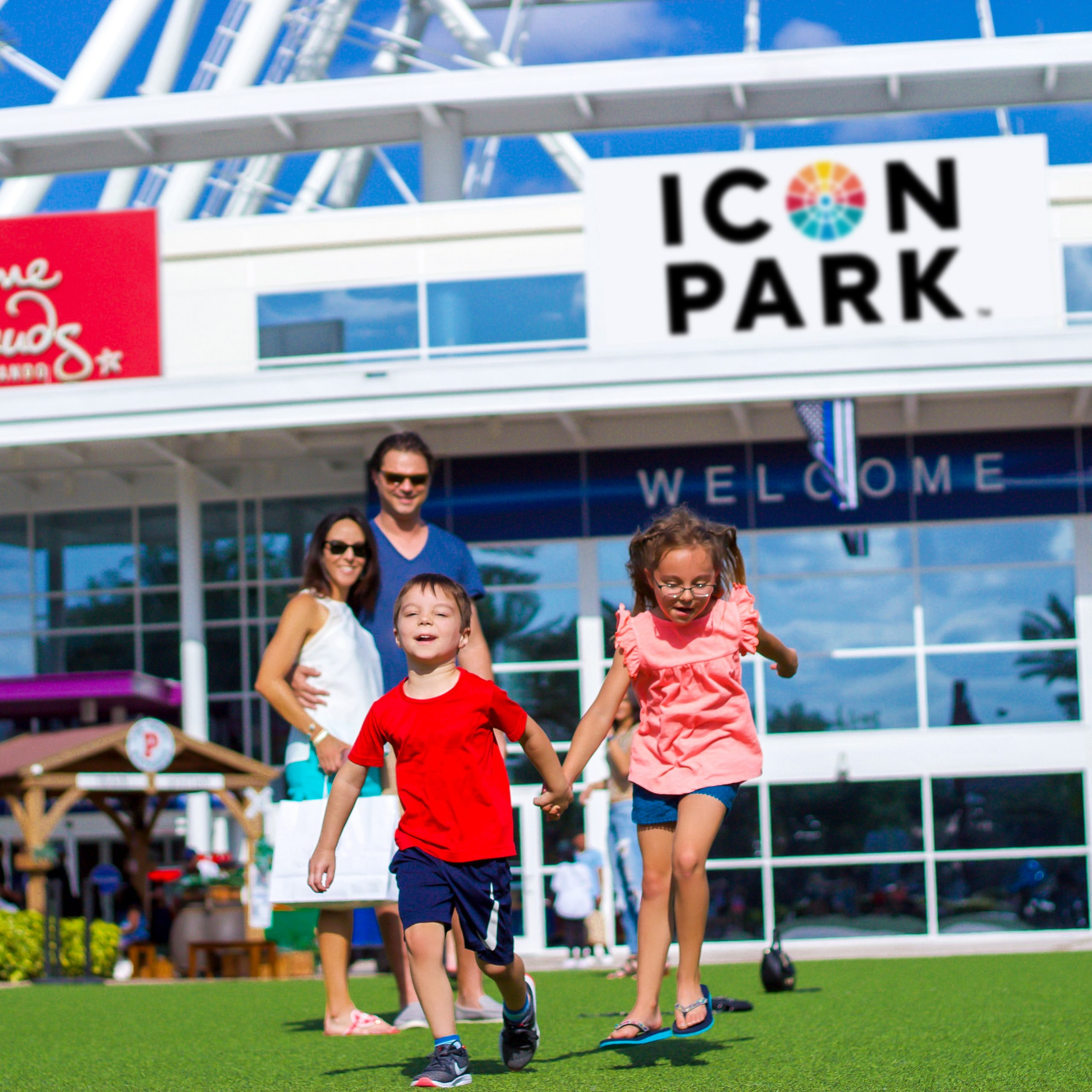 Family at ICON Park