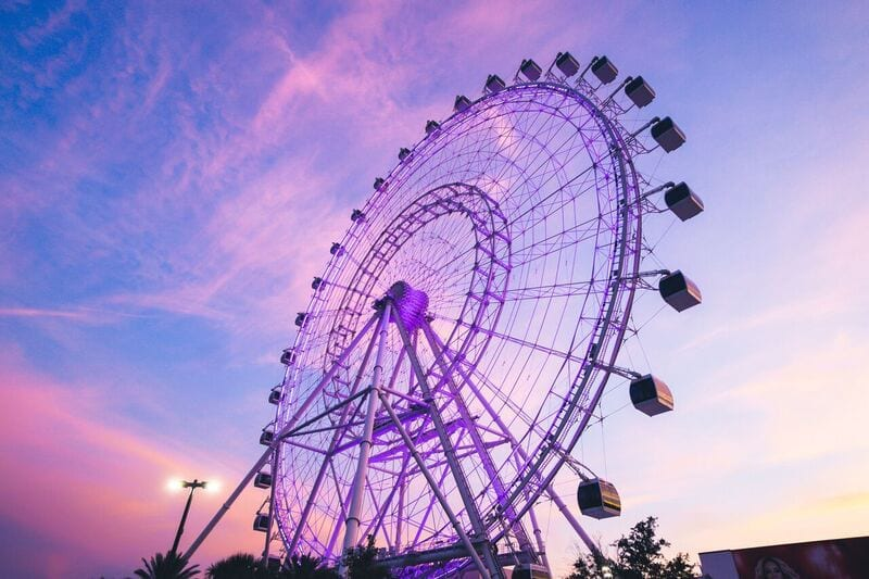 The Wheel at Sunset