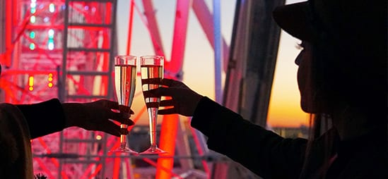 Champagne on The Wheel