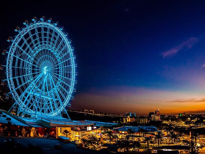 The wheel with skyline