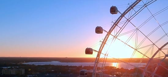 Sunset with The Wheel